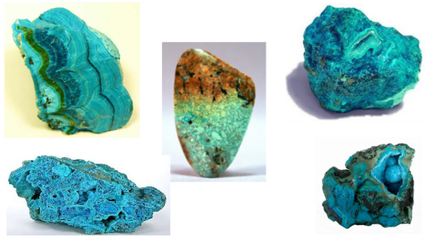 Хризоколла- камни-колаж