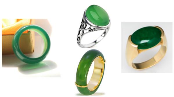 Разные кольца с нефрита