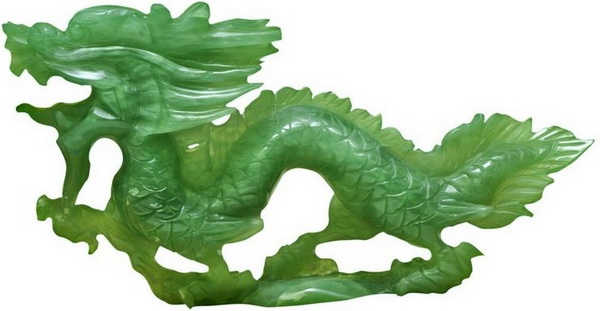 Дракон из зеленого нефрита