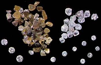 Необработаный алмаз