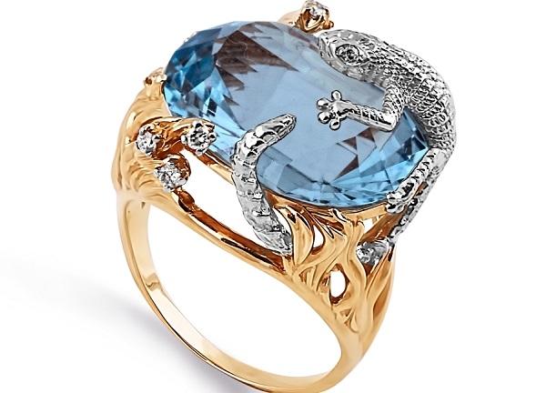 Перстень с топазом